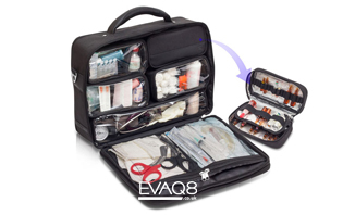 Black Medical Doctor's Bag | medical bag info - first responder advanced medical bags from EVAQ8.co.uk the UK's Emergency Preparedness specialist