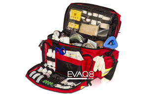 Medical Life Support Bag Fully Kitted | ambulance kit bags - first responder advanced medical bags EVAQ8.co.uk