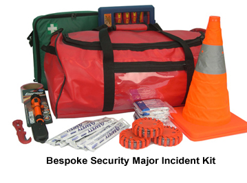 Security Major Incident Kit | Medical Life Support Bag Fully Kitted | ambulance kit bags - first responder advanced medical bags EVAQ8.co.uk